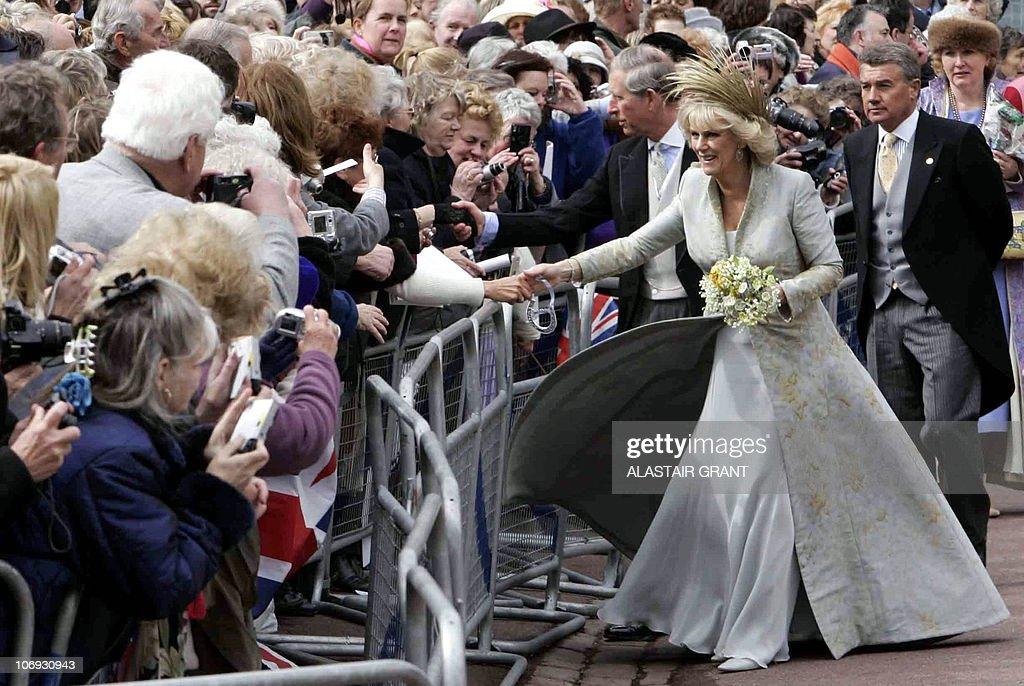 Britain's Prince Charles and his bride C : News Photo