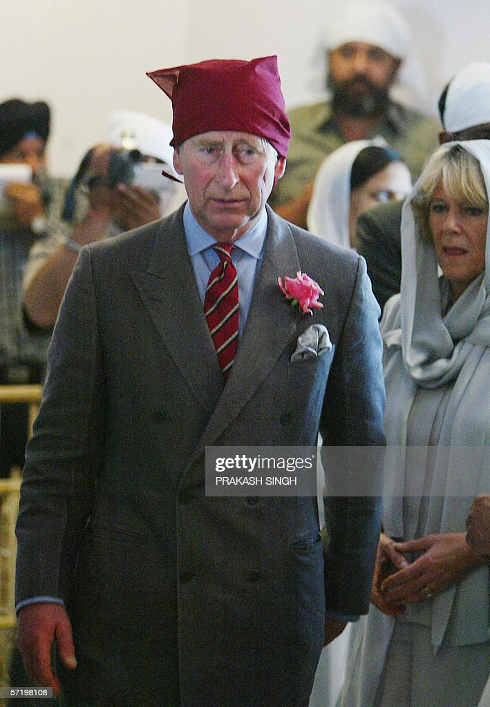 Britain`s Prince Charles and his wife Camilla Duchess of York arrive at the Anadpur Saheb Gurudwara in the town of Anadpur Saheb some 85 km from...