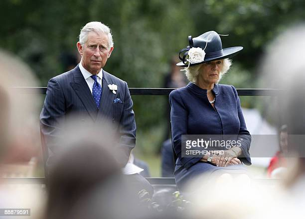 Britain's Prince Charles and his wife Camilla The Duchess of Cornwall attend the dedication of the London Bombing Memorial for the victims of the...
