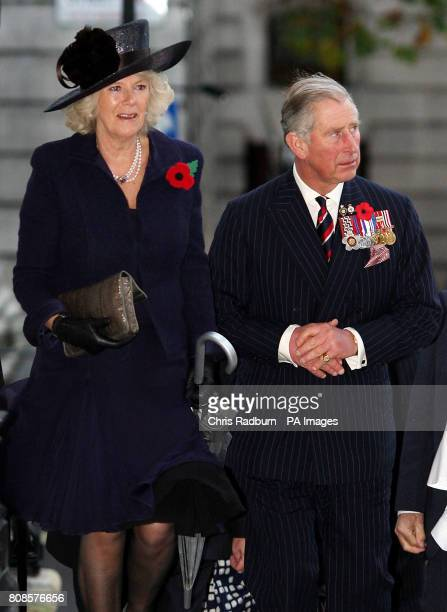 Britain's Prince Charles and the Duchess of Cornwall arrive at St MartinsintheFields London for a Victoria Cross and George Cross Association reunion...