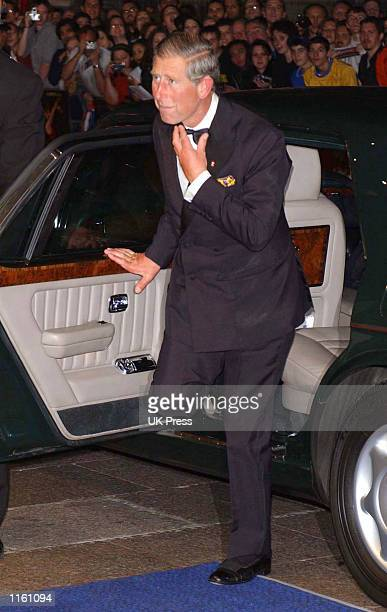Britain's Prince Charles arrives at the premiere of the film Moulin Rouge September 3 2001 in London England