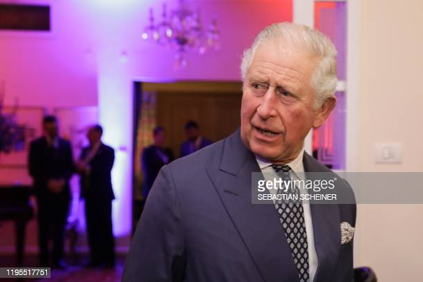 Britain's Prince Charles arrives to attend a reception at the British Ambassador's residence in the city of Ramat Gan in the Tel Aviv district...