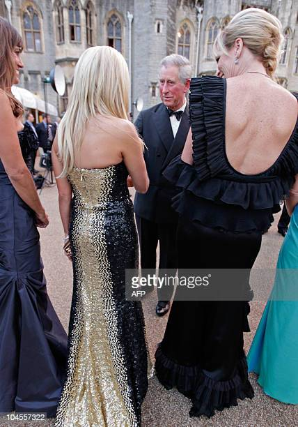 """Britain's Prince Charles , meets the wives and girlfriends of the America Ryder Cup players, before the """"Welcome to Wales 2010 Ryder Cup"""" dinner at..."""