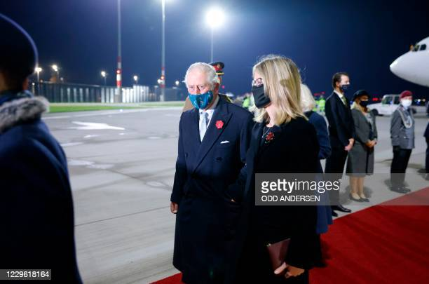 Britain's Prince Charles , Prince of Wales and Camilla , Duchess of Cornwall, are welcomed by the British ambassador to Germany Jill Gallard as they...