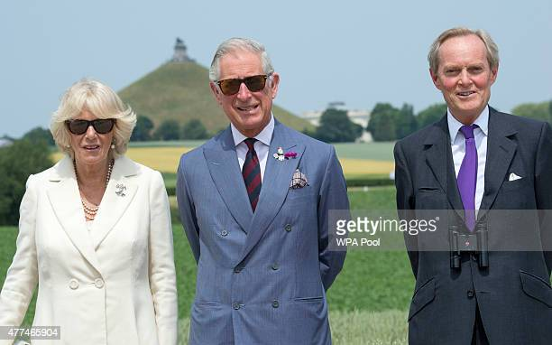 Britain's Prince Charles Prince Of Wales and Camilla Duchess of Cornwall are shown around by The Duke of Wellington during their visit of the Lion...