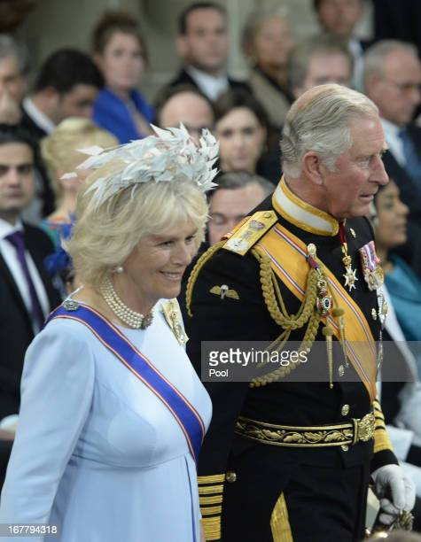 Britain's Prince Charles, Prince of Wales and Camilla, Duchess of Cornwall arrive to attend the inauguration of HM King Willem Alexander of the...
