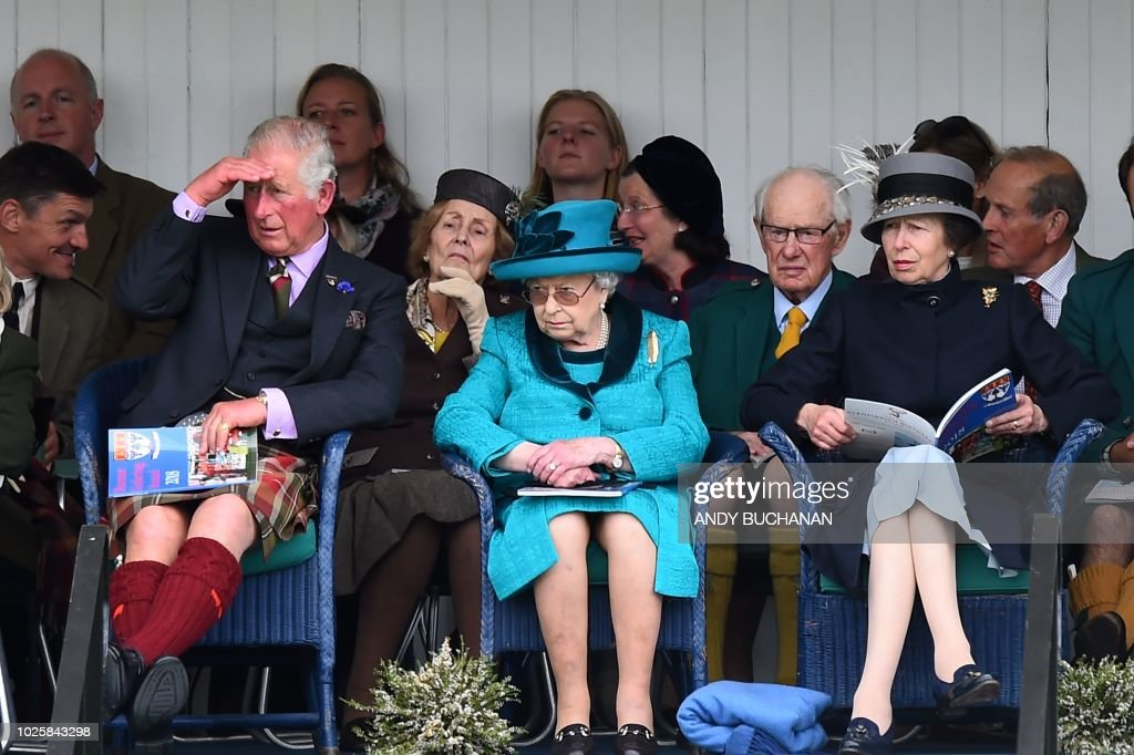 BRITAIN-SCOTLAND-HIGHLAND GAMES-ROYALS : News Photo