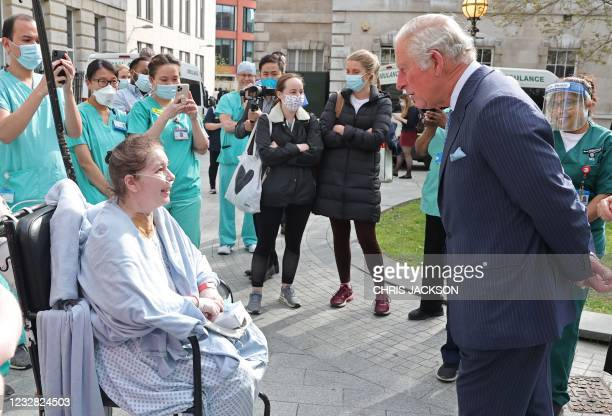 Britain's Prince Charles, Prince of Wales speaks with a patient during a visit to St Bartholomew's Hospital, where he viewed its historic Grade I...