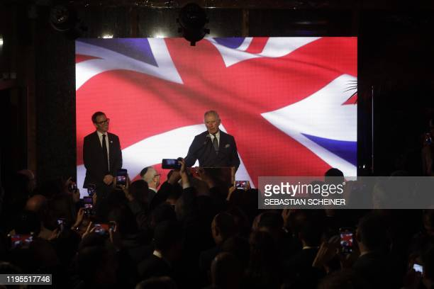 Britain's Prince Charles speaks during a reception at the British Ambassador's residence in the city of Ramat Gan in the Tel Aviv district following...