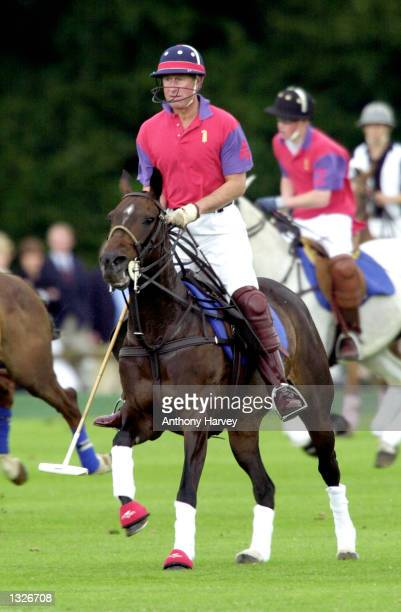 Britain''s Prince Charles takes part in an exhibition Polo match July 15 2001 at Cirencester Park Polo Club in Gloucestershire England