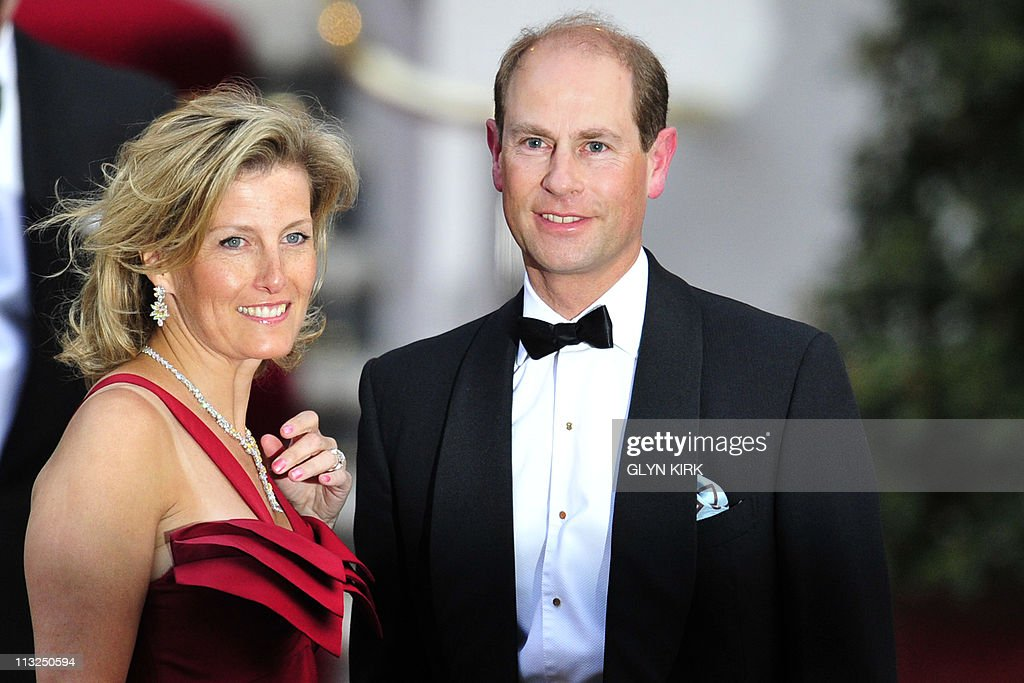 Britain's Prince Edward and Sophie Wesse : News Photo
