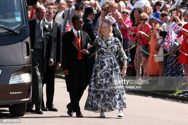 Britain's Prince Edward, Duke of Kent and Britain's Katharine, Duchess of Kent arrive for the wedding ceremony of Britain's Prince Harry, Duke of...