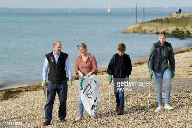 Britain's Prince Edward, Earl of Wessex and Sophie, Countess of Wessex pose with their children Lady Louise and James, Viscount Severn, as they take...