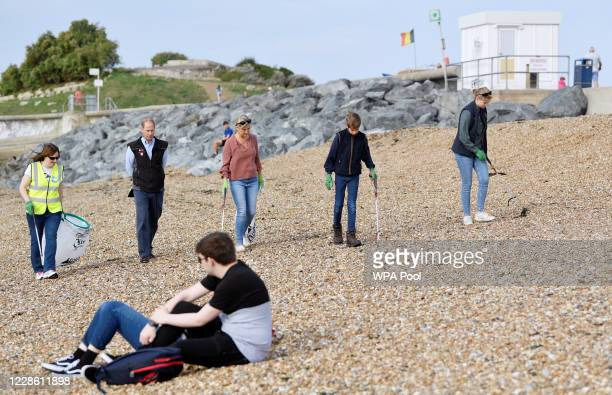 Britain's Prince Edward, Earl of Wessex and Sophie, Countess of Wessex and their children Lady Louise and James, Viscount Severn take part in the...