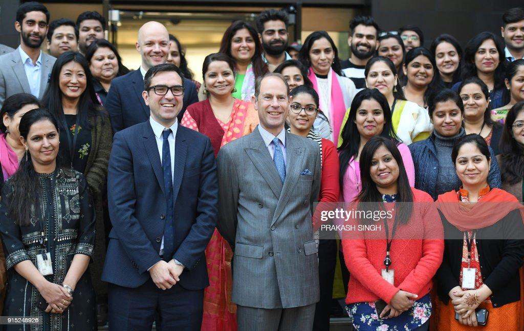 INDIA-BRITAIN-ROYALS-DIPLOMACY : News Photo