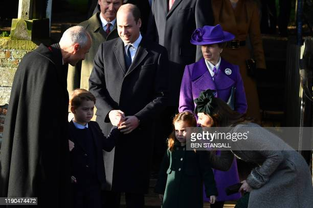 Britain's Prince George of Cambridge Britain's Prince William Duke of Cambridge Britain's Princess Charlotte of Cambridge Britain's Princess Anne...