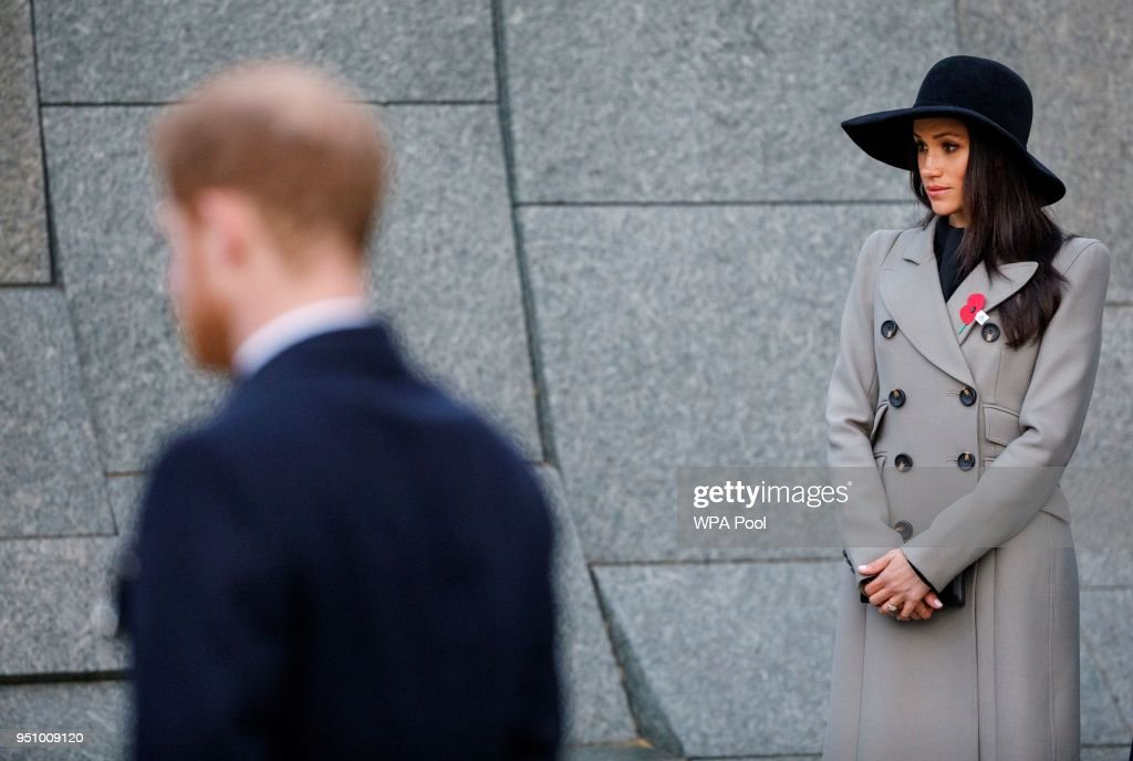 Prince Harry And Meghan Markle Attend Anzac Day Services : News Photo