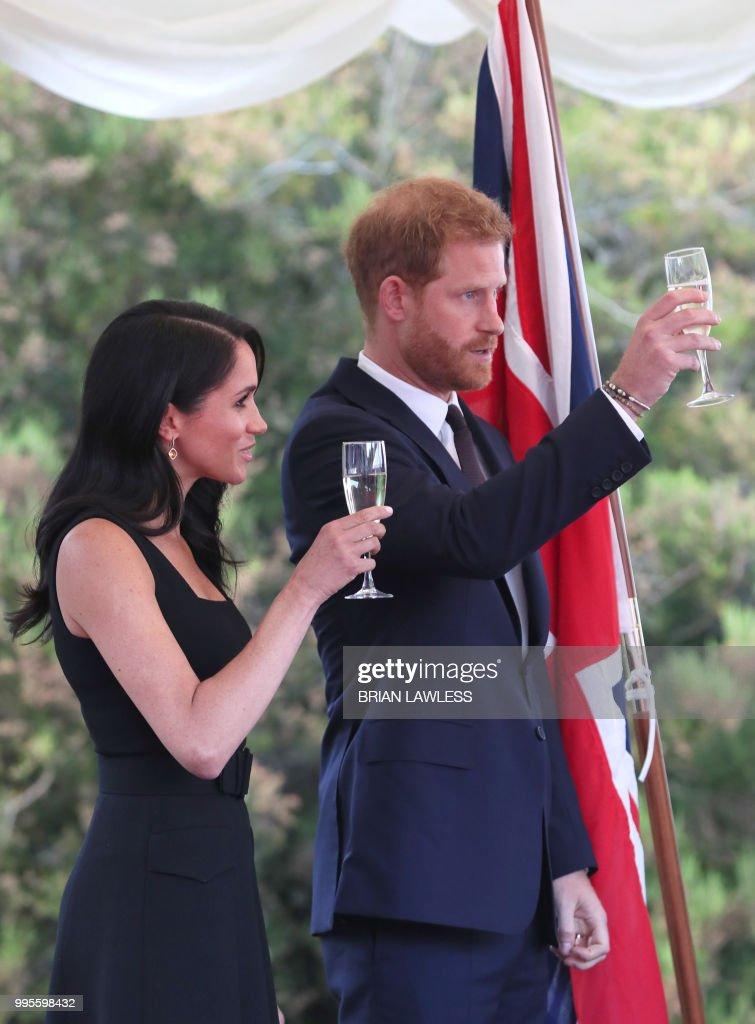 Визит герцога и герцогини Сассекских в Ирландию. День 1. Садовая вечеринка в