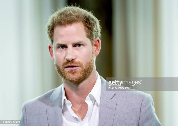 Britain's Prince Harry attends the Adam Tower project introduction and global partnership between Booking.com, SkyScanner, CTrip, TripAdvisor and...