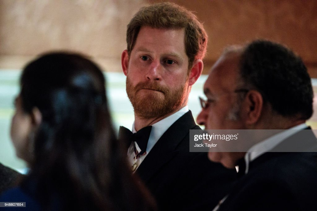 Britain's Prince Harry attends the Queen's Dinner at Buckingham Palace in the week of the 'Commonwealth Heads of Government Meeting' (CHOGM) on April 19, 2018 in London, England. The UK is hosting the heads of state and government from the Commonwealth nations this week.