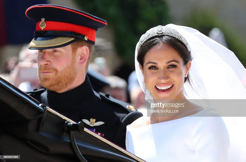 TOPSHOT-BRITAIN-US-ROYALS-WEDDING-PROCESSION : News Photo