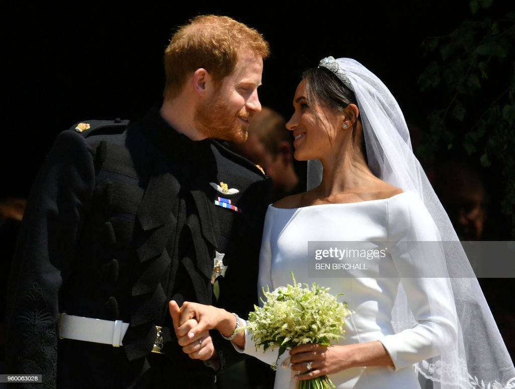 TOPSHOT-BRITAIN-US-ROYALS-WEDDING-CEREMONY : ニュース写真