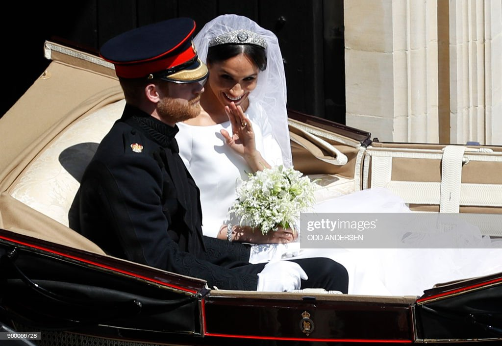 BRITAIN-US-ROYALS-WEDDING-PROCESSION : News Photo