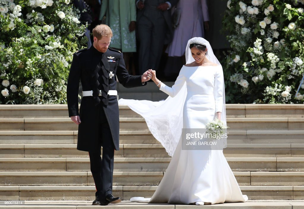 TOPSHOT-BRITAIN-US-ROYALS-WEDDING-CEREMONY : Foto di attualità