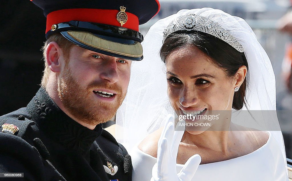 BRITAIN-US-ROYALS-WEDDING-PROCESSION : ニュース写真
