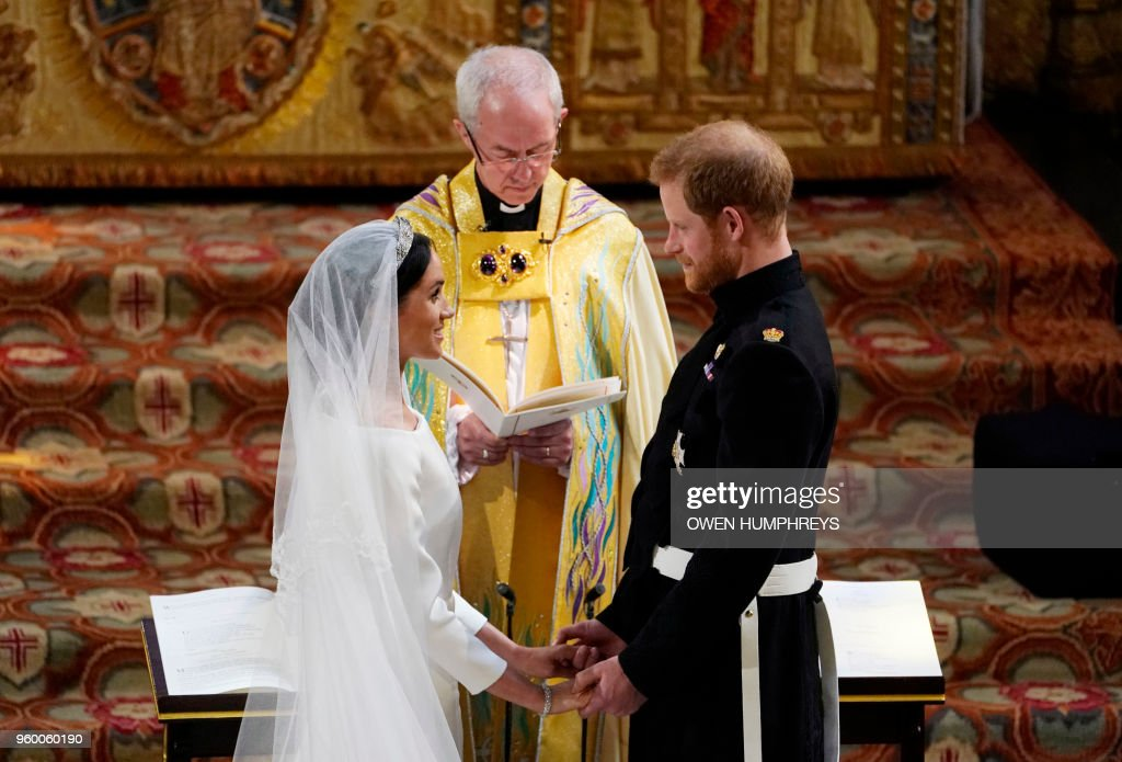 TOPSHOT-BRITAIN-US-ROYALS-WEDDING-CEREMONY : ニュース写真