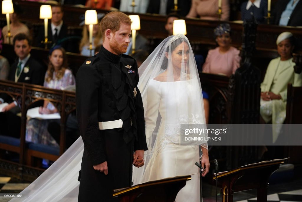 TOPSHOT-BRITAIN-US-ROYALS-WEDDING-CEREMONY : Photo d'actualité