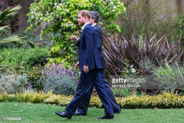 Britain's Prince Harry Duke of Sussex arrives at the British High Commissioner residency in Johannesburg where he will meet with Graca Machel widow...