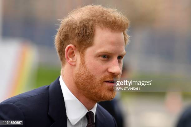 Britain's Prince Harry Duke of Sussex arrives to attend the UKAfrica Investment Summit in London on January 20 2020