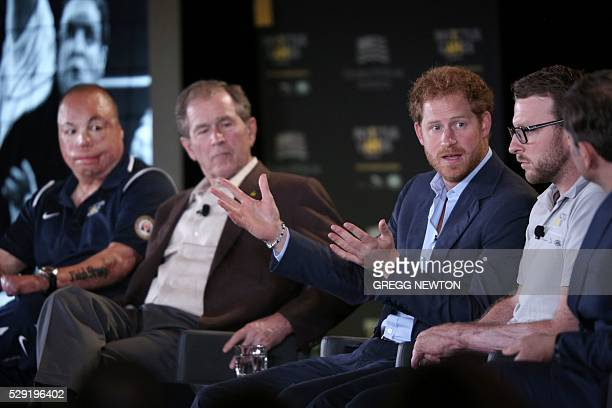 Britain's Prince Harry Patron of the Invictus Games Foundation speaks during the 2016 Invictus Games Symposium on Invisible Wounds in Orlando Florida...