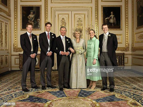 Britain's Prince of Wales and his wife Camilla have selected this family photograph taken at their wedding last April for their 2005 Christmas card....