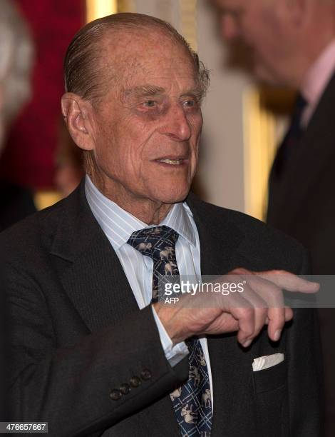 Britain's Prince Philip Duke of Edinburgh attends a reception to mark the launch of the Christ Church Cathedral Music Trust at St James's Palace in...