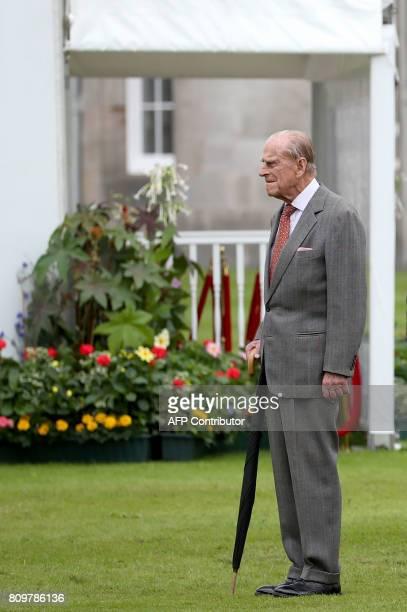 Britain's Prince Philip Duke of Edinburgh attends the Presentation Reception for The Duke of Edinburgh Gold Award holders in the gardens at the...