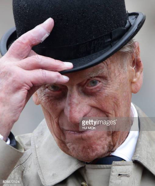 Britain's Prince Philip Duke of Edinburgh in his role as Captain General Royal Marines attends a Parade to mark the finale of the 1664 Global...