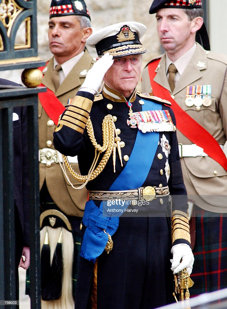 Britain's Prince Philip leaves Westminster Abbey following ...
