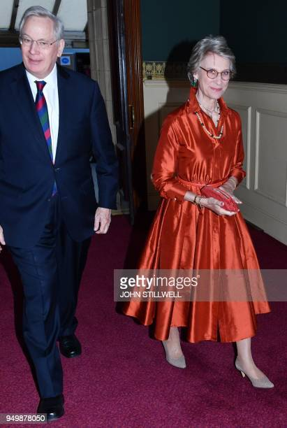 Britain's Prince Richard Duke of Gloucester and Britain's Birgitte Duchess of Gloucester attend The Queen's Birthday Party concert on the occassion...