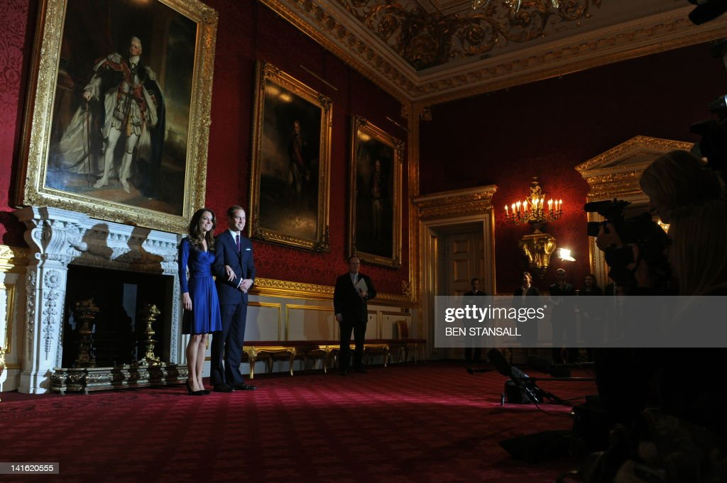 Britain's Prince William and his fiancée : News Photo