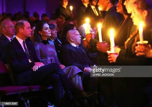 Britain's Prince William, Duke of Cambridge and Britain's Catherine, Duchess of Cambridge attend the UK Holocaust Memorial Day Commemorative Ceremony...