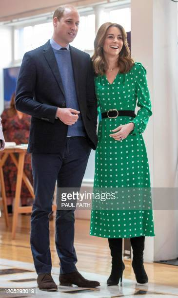 Britain's Prince William Duke of Cambridge and Britain's Catherine Duchess of Cambridge attend a special event in Tribeton in Galway western Ireland...