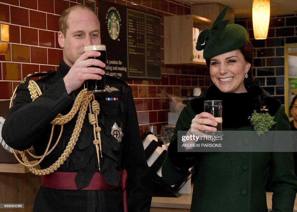 BRITAIN-ROYALS-MILITARY-FESTIVAL-ST PATRICK'S : News Photo