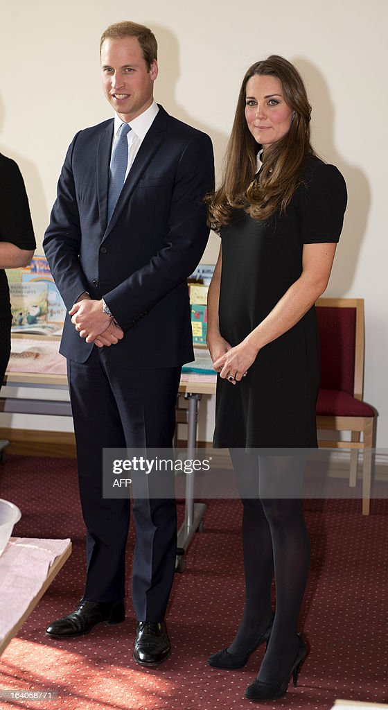 Britain's Prince William, Duke of Cambridge, and his wife Catherine, Duchess of Cambridge, visit the offices of Child Bereavement, in Saunderton, Buckinghamshire, on March 19, 2013.