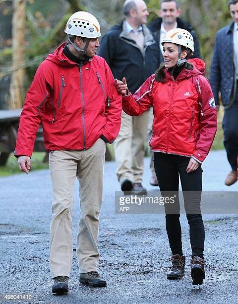 Britain's Prince William Duke of Cambridge and his wife Catherine Duchess of Cambridge visit the Towers Residential Outdoor Education Centre in Capel...