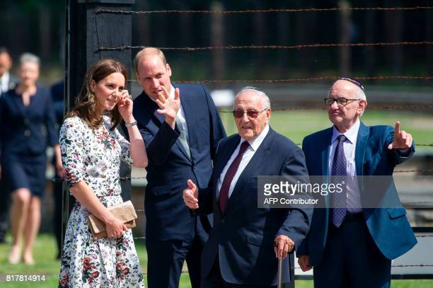 Britain's Prince William Duke of Cambridge and his wife Kate the Duchess of Cambridge visit the former Stutthof Nazi concentration camp near Gdansk...