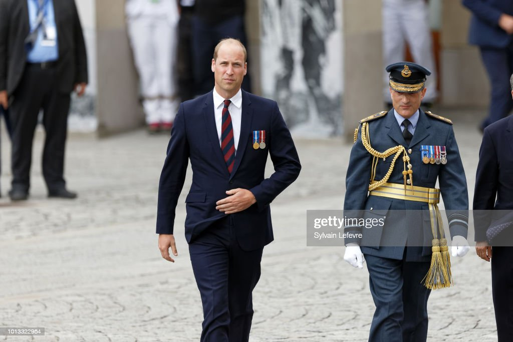 Britain's Prince William, Duke of Cambridge arrives for a religious ceremony to mark the 100th anniversary of the World War I (WW1) Battle of Amiens, at the Cathedral on August 8, 2018 in Amiens, France.