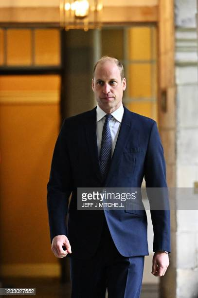 Britain's Prince William, Duke of Cambridge arrives to meet with military personnel and veterans who had been invited to watch the Ceremony of the...