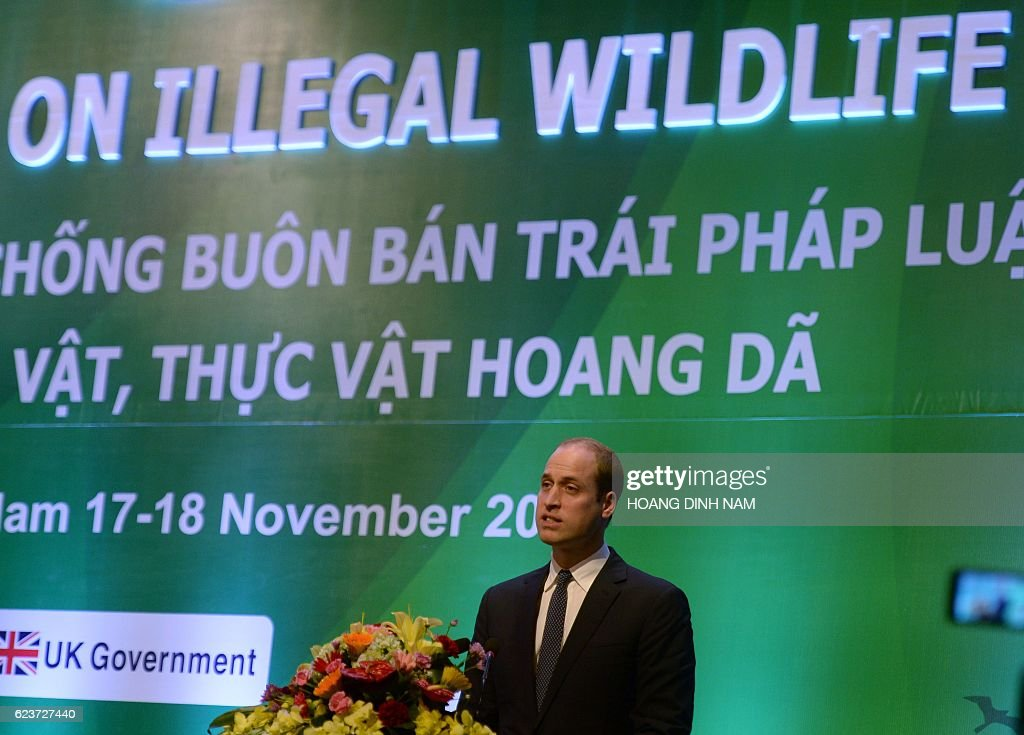 VIETNAM-WILDLIFE-CONFERENCE-BRITAIN-ROYALS : News Photo
